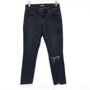 Lucky Brand Lolita Released Hem Black Jeans